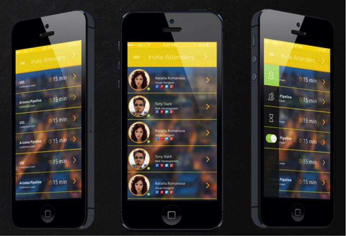 清新 背景 设计/接下来是iOS 7的音乐应用,这个方案里有个小而美的CD图像,很...